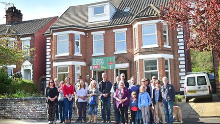 Earlham Road residents opposed to a house of multiple occupancy on their road.Picture: ANTONY KELLY