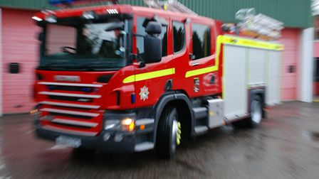 A fire has been tackled in Pulham St Mary