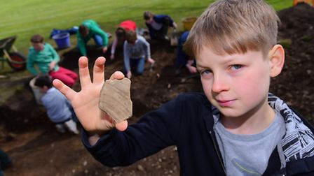 Under the guidance of Lilly Hodges from NPS Archaeology, pupils at Langley Preparatory School, inclu
