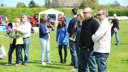 Visitors enjoying the entertainment at a previous Rose May Fete.