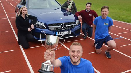Launch of the 2016 West Norfolk Village Games. Pictured are (from left) from King's Lynn Mercedes Ge