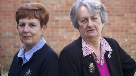 Lesley Willcocks (left) and Hazel Kingswood (right) are leading members of the Norfolk Branch of Roy
