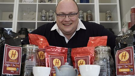 Philip Seach has opened a new coffee and tea shop in Cromer called Henry's Coffee and Tea Store. Pic
