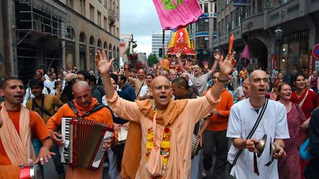 Members of the Hare Krishna movement at other events around the country