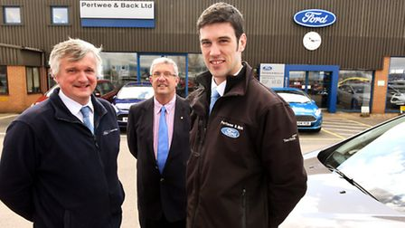 Pertwee & Back Limited, Gapton Hall Road, Great Yarmouth.Ford Main Dealer.(L TO R) Nick Coller - Aft