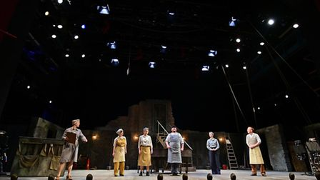The Royal Shakespeare Company and local actors in A Midsummer Night's Dream at Norwich Theatre Royal
