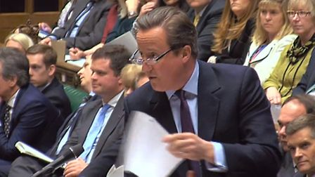 Prime Minister David Cameron speaks during Prime Minister's Questions in the House of Commons PA Wir