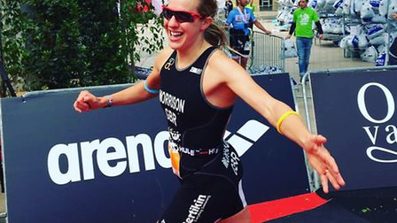 Kimberley Morrison in action at Ironman70.3 Pays d'Aix 2016 in France. Picture: Submitted