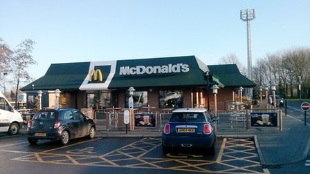 The McDonald's outlet in Brundall