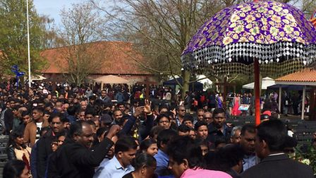 Tamils during the pilgrimage to Walsingham in May 2016. Pic: Archant.