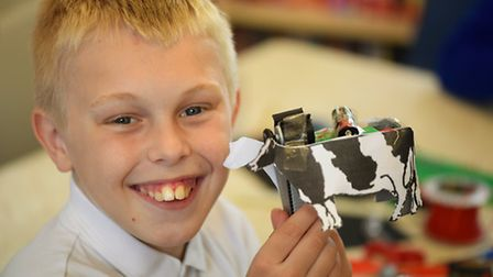 Somerleyton primary school pupils taking part in a science day part of the Royal Academy of Engineer