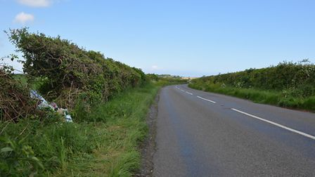 The stretch of the B1355 where the collision occurred. Picture: Chris Bishop
