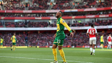 Norwich City midfielder Nathan Redmond is being touted with a Premier League exit. Picture by Paul C