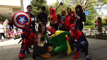 One of the teams from last year's Pimp my Barrow. Students dressed as Marvel characters in the Age o