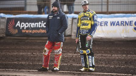Niels-Kristian Iversen, right, had a GP to forget in Warsaw. Picture: IAN BURT