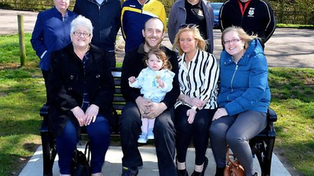 A memorial bench has been unveiled at Normanston Park in Lowestoft in memory of Stephen Hammersley.