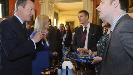 David Cameron hosts a 'Food is Great' reception to showcase the UK's food and drink industry. There