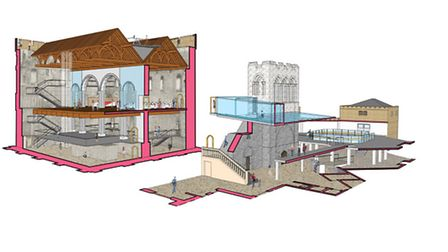 An artist's impression showing the changes the 13m project would make to Norwich Castle Museum. Pic: