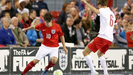 James Webb of England during a Futsal Interantional match between England and Poland at St Georges P