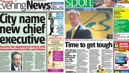 How the Evening News reported David McNally's arrival at Norwich City in June 2009.