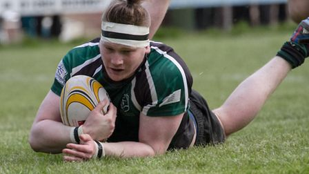 Action from North Walsham's 68-12 win over Norwich at Scottow in the Senior Cup semi-finals last wee