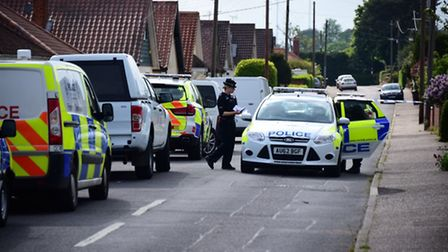 Holmesdale Road, Brundall has been closed. Picture: ANTONY KELLY