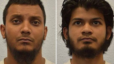 Junead Khan (left) and his uncle Shazib Khan. Photo: CPS/PA Wire