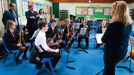 National Schools Commissioner, Sir David Carter, visits Hethersett Academy. Photo: Keith Whitmore