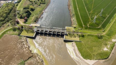 Photos from the kite camera of the Fens from Saddlebow by Bill Blake. Picture: BILL BLAKE.