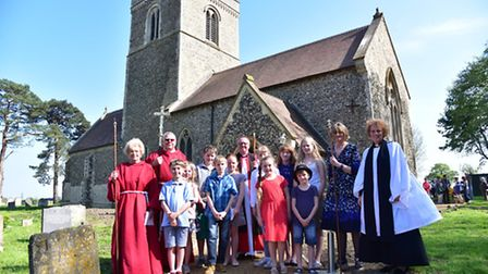 St Nicholas Church in Fundenhall reopens after a year long £250,000 restoration programme. A special
