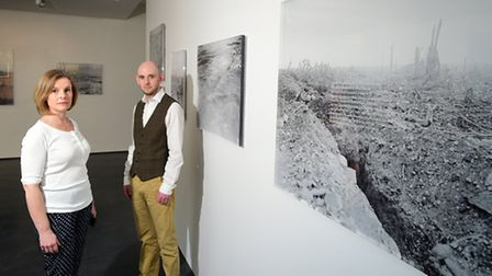 Norfolk and Norwich Festival exhibition Fierce Light at NUA's East Gallery. Caroline Fisher from NUA