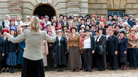 NNF14 The Voice Project rehearse for their performance of Souvenir at Holkham Hall. Photo: JMA Photo