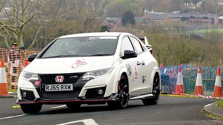 This Honda Civic Type R was the first completely standard car to score points in the British Hillcli