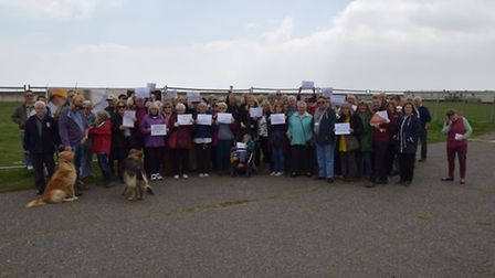 Residents campaign against possible future development on the North Denes area of Lowestoft.