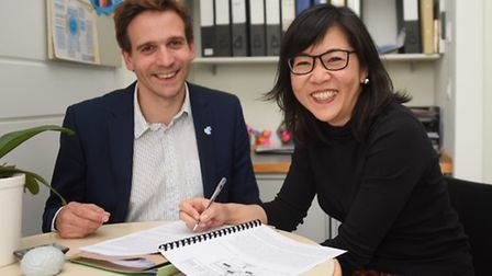 Professors Eneida Mioshi and Michael Hornberger who are working together specialising in dementia re
