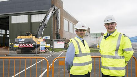 Work starts on the development of RAF Marham ready for the arrival of the Lightning II aircraft - Fr