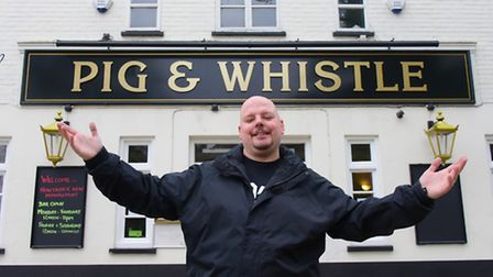 New general manager Lee Tuttle at The Pig and Whistle Pub which is reopening after closing in Decemb