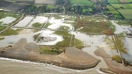 North Norfolk floods aerials. Salthouse. Picture: MIKE PAGE