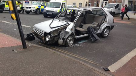 The vehicle involved in the crash of Magdalen Road