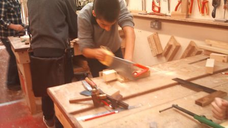 Woodwork classes are among the courses offered by the community learning service.