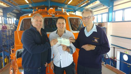 Money has been donated to Cromer RNLI by William Hill who put a bet on the Grand National in Mr Atki