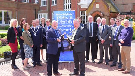 Launching the 2016 Stars of Norfolk and Waveney Awards at Sprowston Manor hotel, Nigel Pickover and
