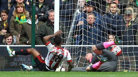 Jermain Defoe was on target in Sunderland's crucial 3-0 Premier League win at Norwich City. Picture