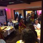A bhangra and bollywood dancing workshop and party was held at Monty's Indian Restaurant at Saxlingh