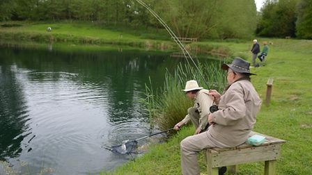 Percy Norton, still fishing at the age of 102, pictured at the Norfolk and Suffolk Flyfishers' Socie