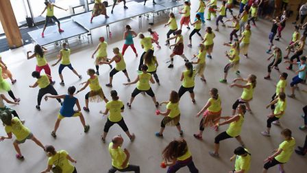 The annual Zumbathon at the City Academy in aid of The Hamlet Charity. Picture: DENISE BRADLEY