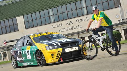 Shawn Taylor pictured promoting a charity vehicle event he organised at former RAF Coltishall last y