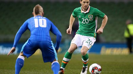 Norwich City's Wes Hoolahan in action for the Republic of Ireland. Photo: Brian Lawless/PA Wire