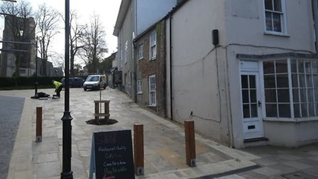 The landscaped area at 4a Market Street, North Walsham. Picture: MARK BULLIMORE