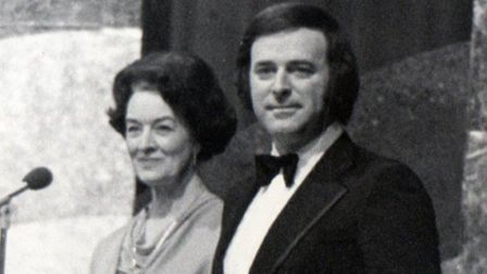 Peggy with Terry Wogan on Come Dancing.